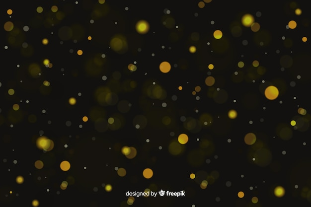 Luksusowe tło z bokeh złote cząsteczki