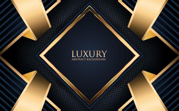 Luksusowe tło z geometrycznym kształtem i złotym paskiem