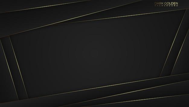 Luksusowe tło z złote abstrakcyjne kształty