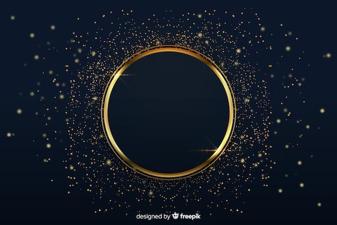 Luksusowe tło ze złotym pierścieniem