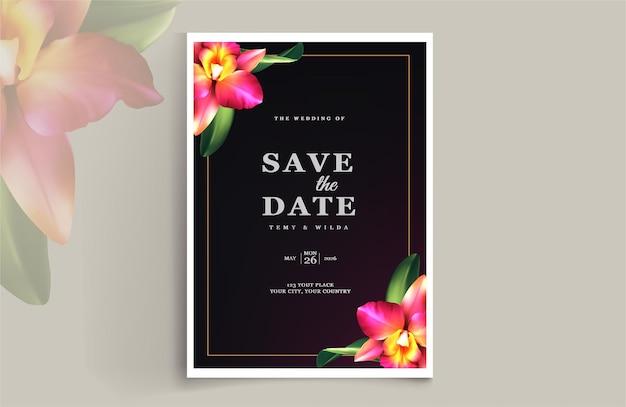 Luksusowe zapisz zestaw kart z zaproszeniem na ślub