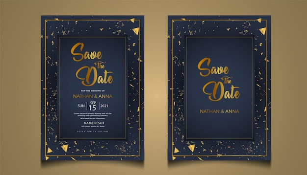 Luksusowe zaproszenia ślubne scenografia