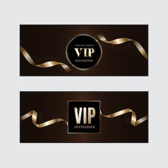 Luksusowe zaproszenia vip i tła kuponów