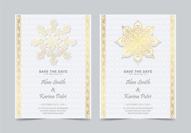 Luksusowe zaproszenie na ślub w stylu mandali