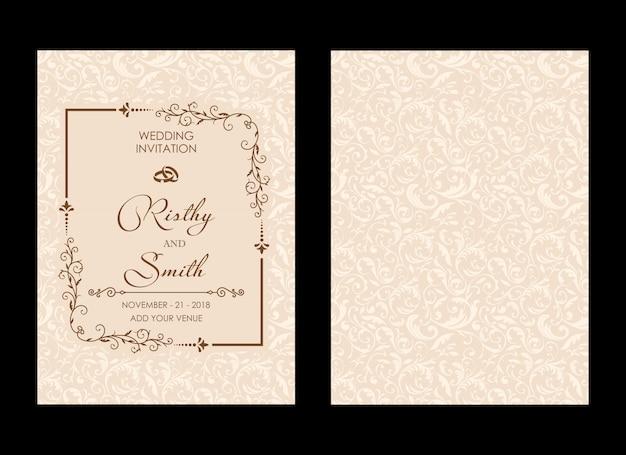 Luksusowe zaproszenie na ślub
