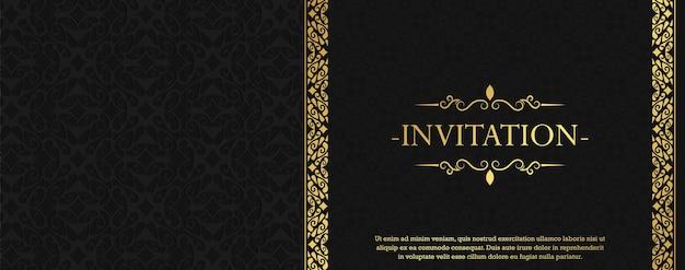 Luksusowe zaproszenie styl tło ozdobny wzór