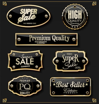 Luksusowe złote elementy premium