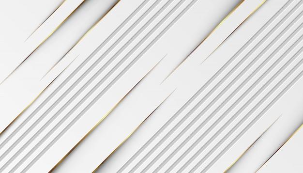 Luksusowe złote linie świetlne z białym szarym tłem
