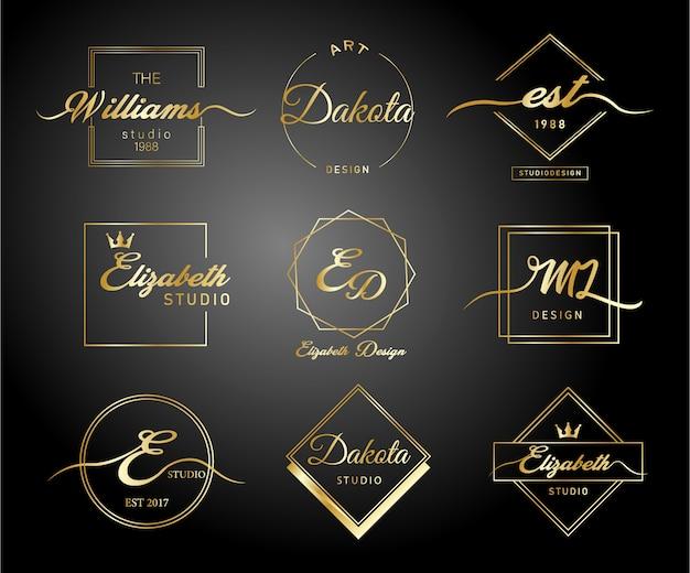 Luksusowe złote logo gradientu