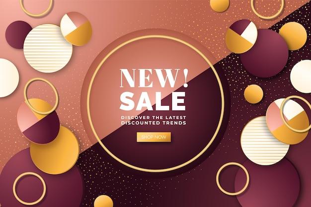 Luksusowe złote nowe tło sprzedaży