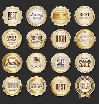 Luksusowe złote odznaki premium
