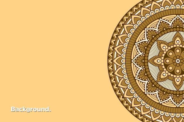 Luksusowe złote tło kolorowe mandali