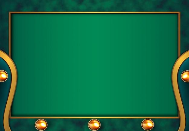 Luksusowe złote tło z zieloną metaliczną teksturą 3d