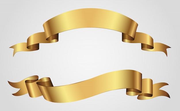 Luksusowe złote wstążki