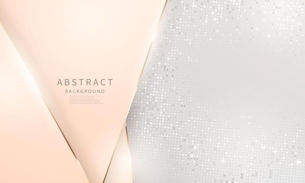 Luksusowe złoto srebro nowoczesne abstrakcyjne tło