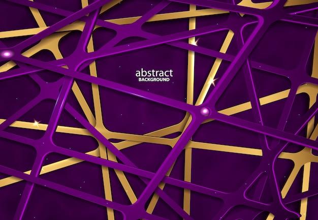 Luksusowy abstrakcjonistyczny 3d tło z purpurowym papercut abstrakcjonistyczną realistyczną papercut dekoracją
