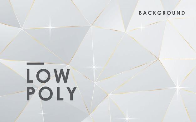 Luksusowy abstrakcjonistyczny biały niski poli- tło