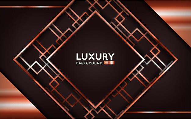 Luksusowy abstrakcjonistyczny tło z brązowymi liniami