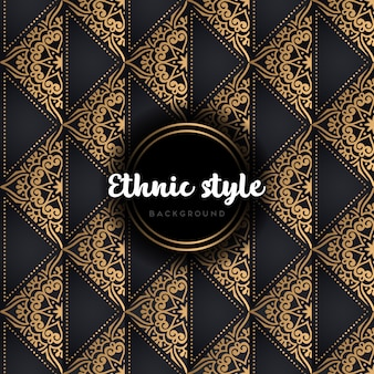 Luksusowy bezszwowe wektor wzór złoto i czerń