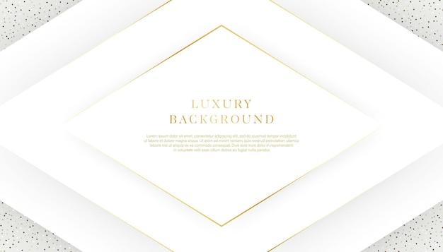 Luksusowy biały i złoty kolor tła.