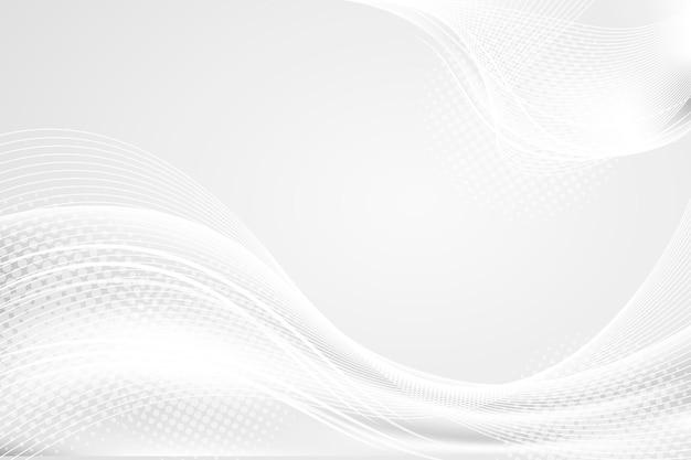 Luksusowy biały z falami w tle