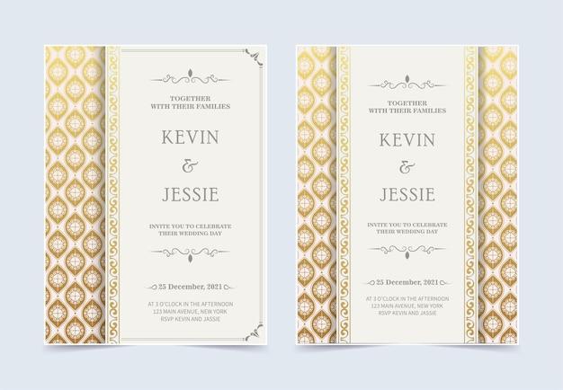Luksusowy biały zestaw zaproszenia ślubne