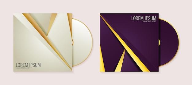 Luksusowy biznes streszczenie szablon okładki cd