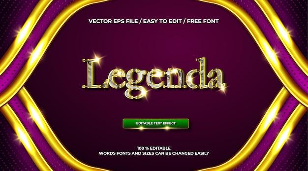 Luksusowy chromowany złoty efekt tekstowy 3d