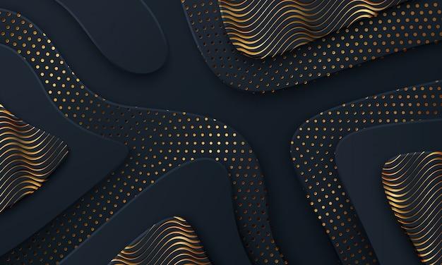 Luksusowy ciemny tło textured i falisty