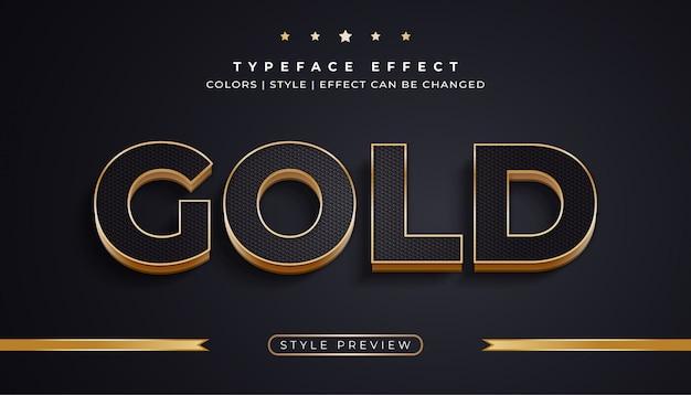 Luksusowy czarny i złoty tekst z efektami