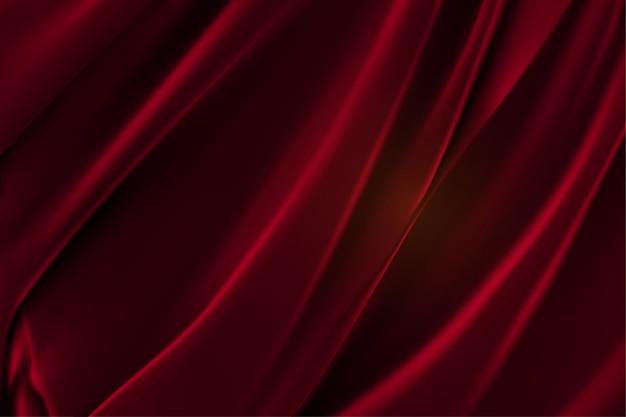 Luksusowy czerwony satyna gładka tkanina tło