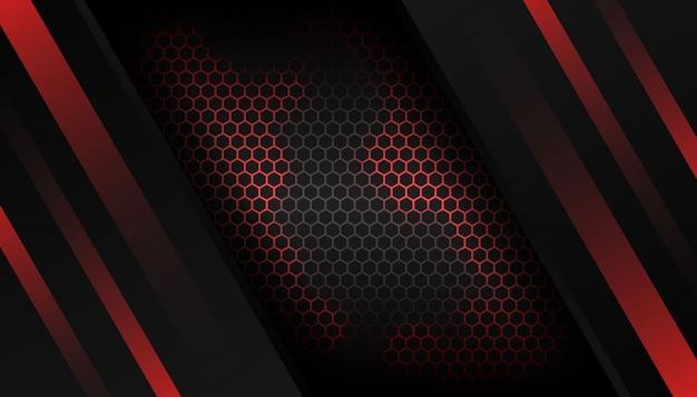 Luksusowy czerwony sześciokąt tło