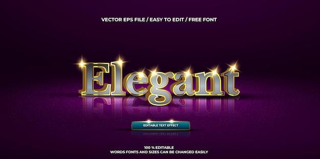 Luksusowy edytowalny efekt tekstowy elegancki styl tekstu 3d
