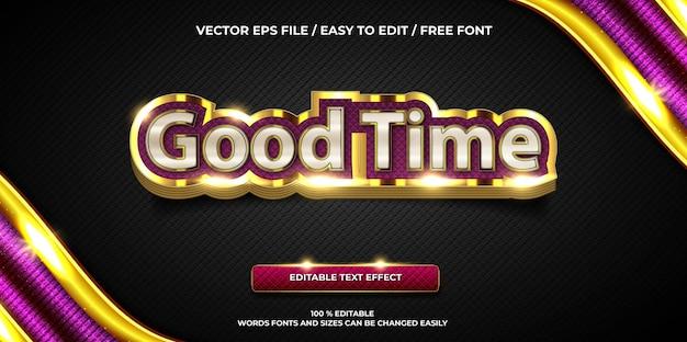 Luksusowy, edytowalny, pogrubiony efekt tekstowy 3d