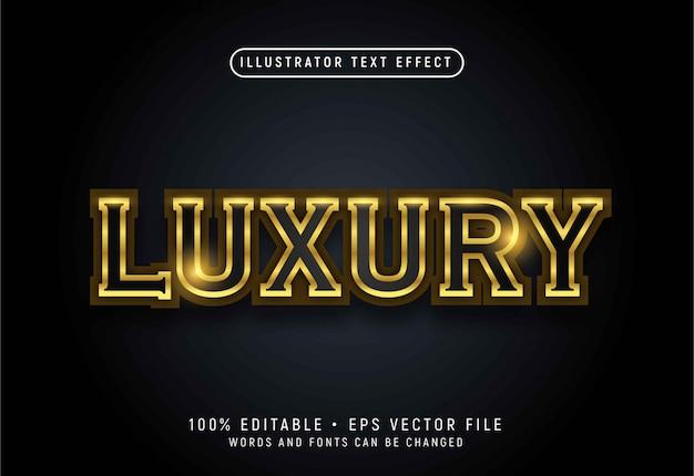 Luksusowy efekt stylu tekstu 3d