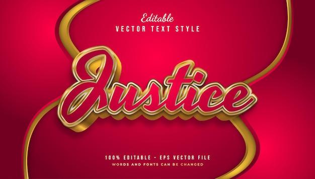 Luksusowy efekt stylu tekstu w kolorze czerwonym i złotym