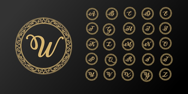 Luksusowy elegancki szablon logo pierwszej litery