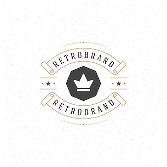 Luksusowy element w stylu vintage na logotyp