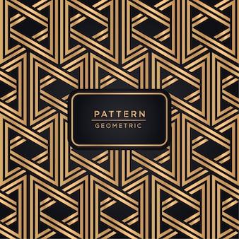 Luksusowy geometryczny wzór tło w złocistym kolorze