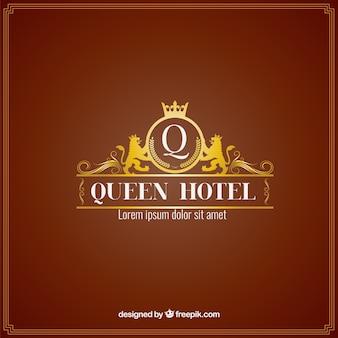 Luksusowy hotel logo szablon
