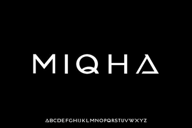 Luksusowy i elegancki alfabet z wyświetlaczem czcionek