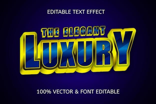 Luksusowy kolor granatowego złota edytowalnego efektu tekstowego