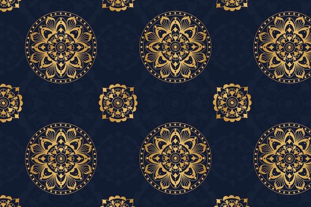 Luksusowy kolorowy mandali tło