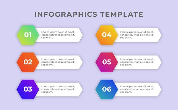 Luksusowy kolorowy szablon infografiki