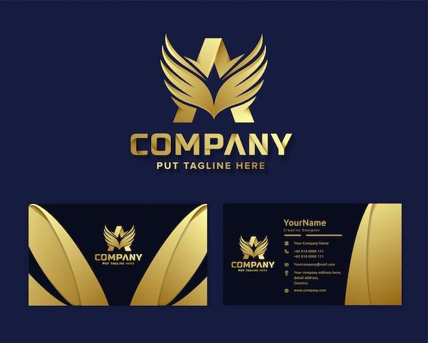 Luksusowy luksusowy list initial a szablon logo dla firmy