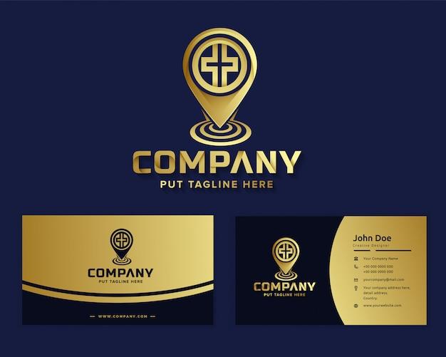 Luksusowy luksusowy szablon logo szpitala medycznego dla firmy