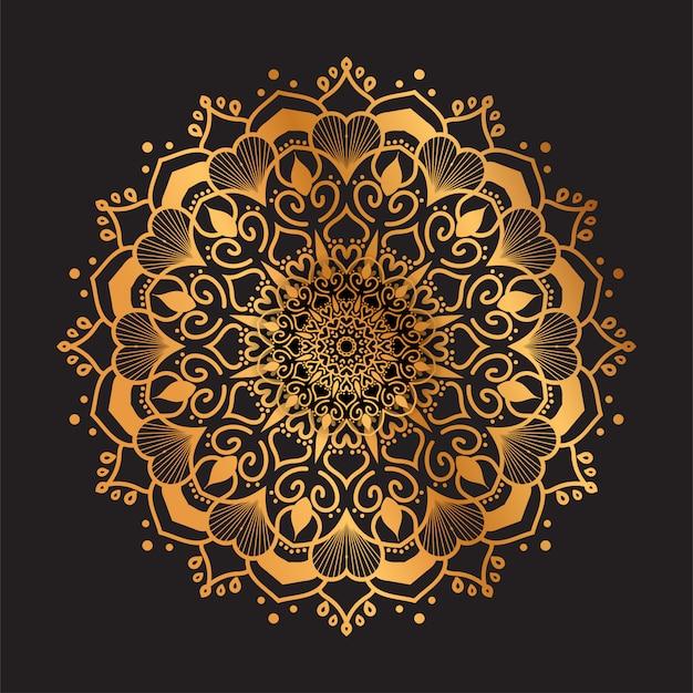 Luksusowy mandala wzór arabski styl islamski tło