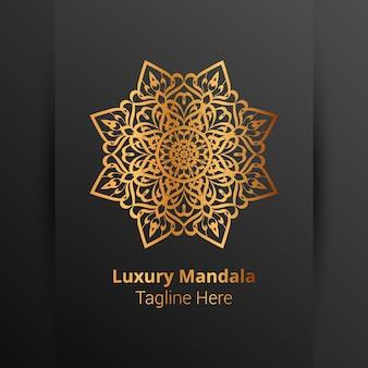 Luksusowy mandali arabeska tło