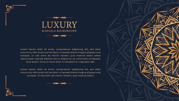Luksusowy mandali arabeskowy ozdobne tło