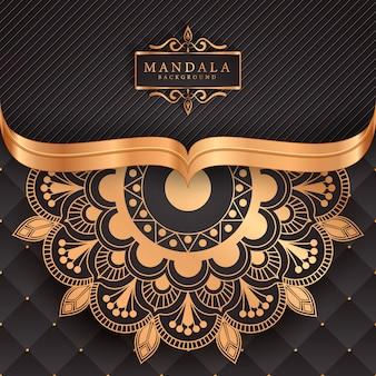 Luksusowy mandali element dekoracyjny etniczne tło